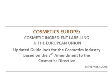 Cosmetic Ingredient Labelling in the European Union