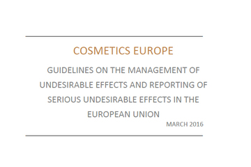 CE Guidelines on the Management of Undesirable Effects and reporting of Serious Undesirable Effects in the European Union - March 2016