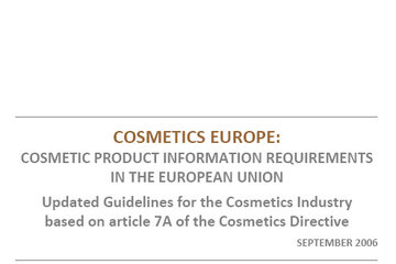 Cosmetic Product Information Requirements in the European Union