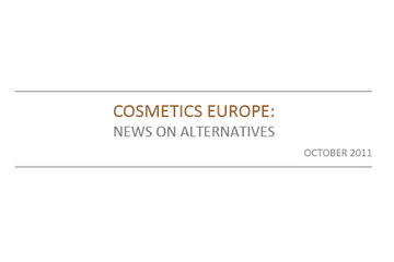 AAT Newsletter on Alternatives October 2011