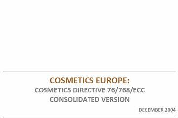 EU Cosmetics Directive - Consolidated version 2004